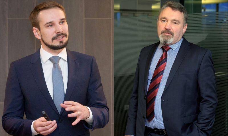 """Iš kairės: Vaidotas Rūkas, Lietuvos investicijų valdymo įmonės """"INVL Asset Management"""" Investicijų valdymo departamento vadovas, ir Jurgis Šefleris, investuotojas į NT. VŽ fotomontažas"""