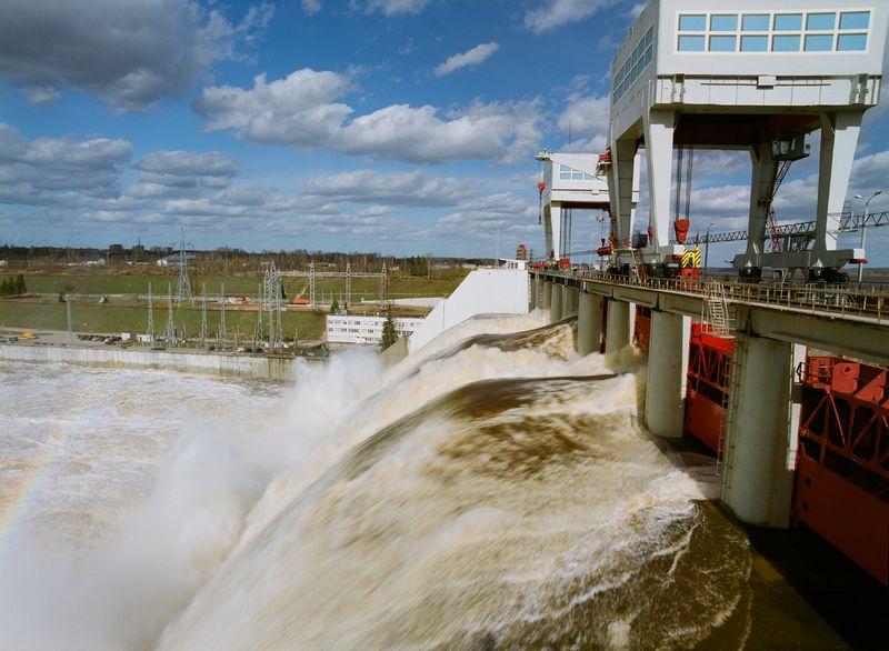 """Viena iš Dauguvos hidroelektrinių. """"Latvenergo"""" nuotr."""