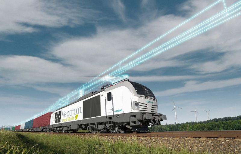 """Hibridinis """"Siemens"""" lokomtyvas. Gamintojo nuotr."""