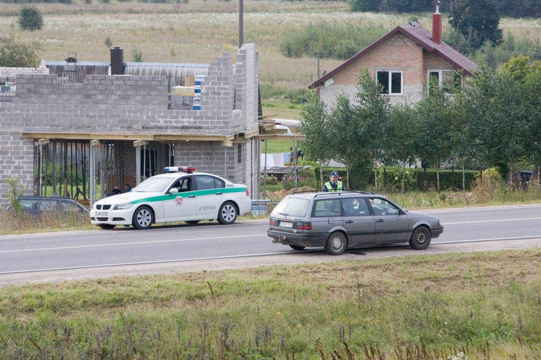 Rugsėjį policija sustiprins pajėgas šalies keliuose