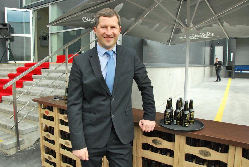 """""""Alkoholio reklamos ribojimai paskatino pokyčius rinkoje,  jau galime prognozuoti, kuria linkme ji gali persiformuoti,""""  - mano Marius Horbačauskas, """"Volfas Engelman"""" generalinis direktorius. Indrės Sesartės nuotr."""