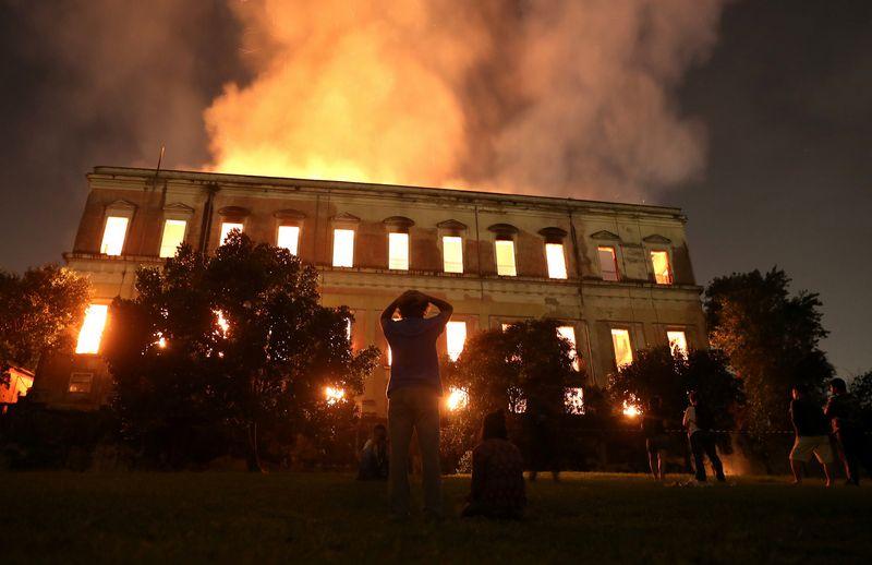 """Rio de Žaneiro nacionalinio muziejaus nuostolis - 20 mln. eksponatų. Ricardo Moraes (""""Reuters"""" / """"Scanpix"""") nuotr."""