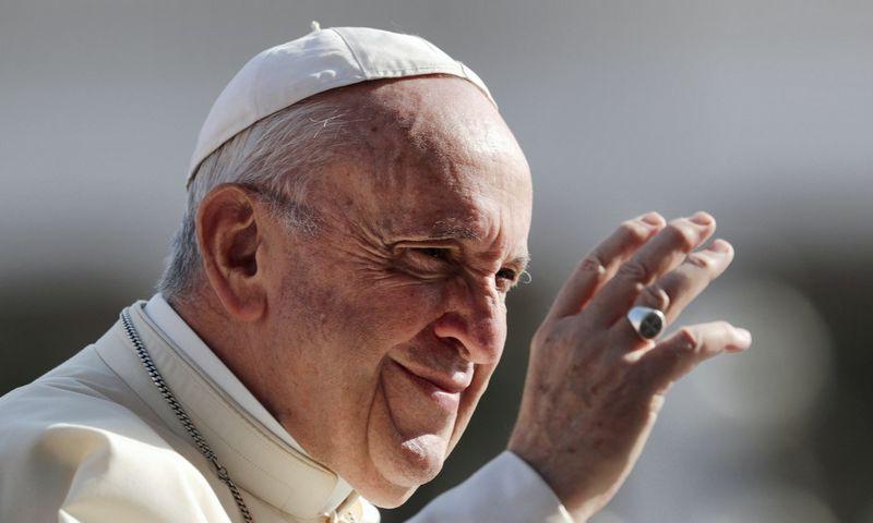 """Popiežius Pranciškus po trijų savaičių lankysis Baltijos valstybėse. Alessandro Bianchi (""""Reuters"""") nuotr."""