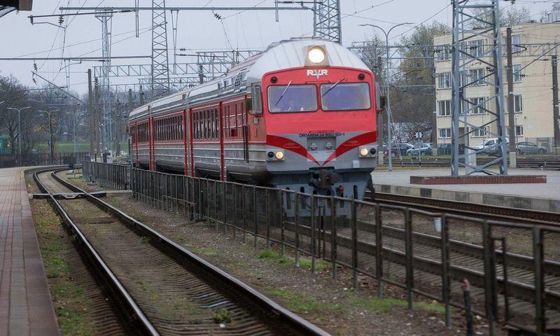 Traukinys Vilniaus geležinkelio stotyje. Vladimiro Ivanovo (VŽ) nuotr.