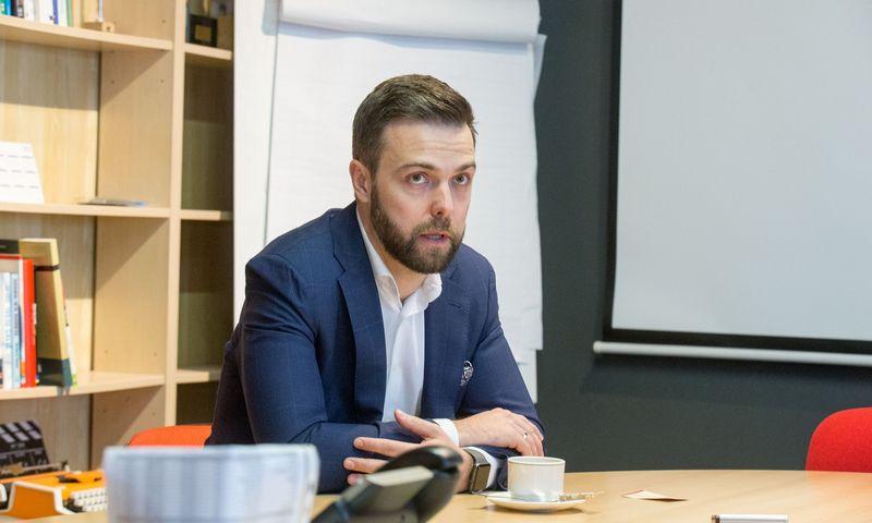 Andrius Bolšaitis, SEB banko Inovacijų centro vadovas. Juditos Grigelytės (VŽ) nuotr.