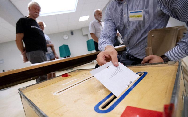 Sekmadienį Švedijoje vyko parlamento rinkimai. Johan Nilsson (TT/Scanpix) nuotr.
