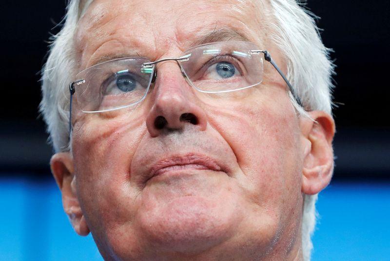 """ES vyriausiasis """"Brexit"""" derybininkas Michelas Barnier. Yveso Hermano (""""Reuters"""" / """"Scanpix"""") nuotr."""