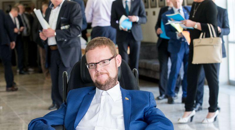 Seimo narys Justas Džiugelis. Juditos Grigelytės (VŽ) nuotr.