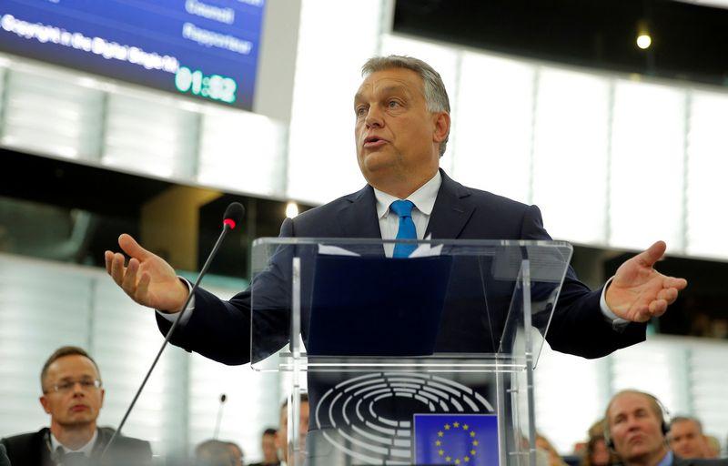 "Vengrijos premjeras Viktoras Orbanas. Vincento Kesslerio (""Reuters"" / ""Scanpix"") nuotr."