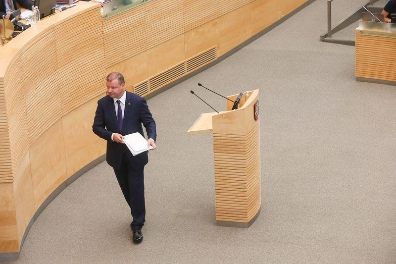Saulius Skvernelis, premjeras. Vladimiro Ivanovo (VŽ) nuotr.