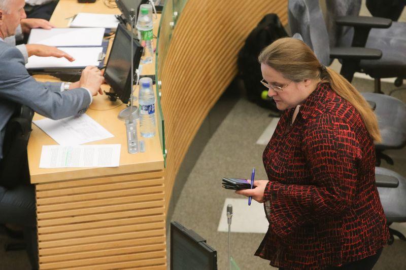 Agnės Širinskienės pasiūlymas pakoreguoti Farmacijos įstatymą nesulaukė Seimo daugumos paramos. Vladimiro Ivanovo (VŽ) nuotr.