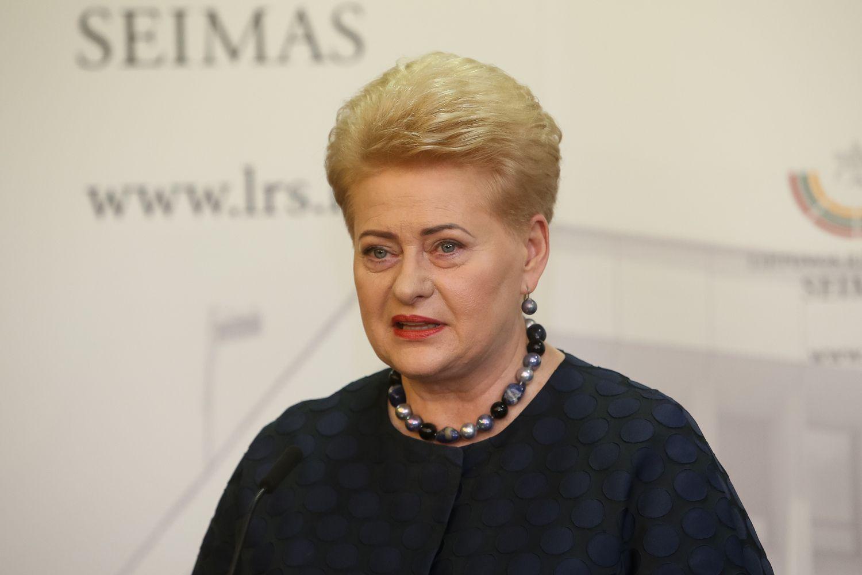 Prezidentė: Seimo komisijos manęs neužtildys