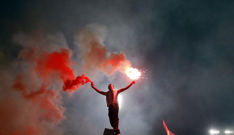 """Egipte į klubinio futbolo rungtynes sirgaliams buvo uždrausta patekti po tragiškai pasibaigusių riaušių. """"Reuters"""" / """"Scanpix"""" nuotr."""