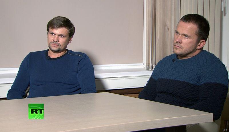 "Ruslanas Boširovas (kairėje) ir Aleksandras Petrovas (dešinėje). ""Sputnik"" / ""Scanpix"") nuotr."