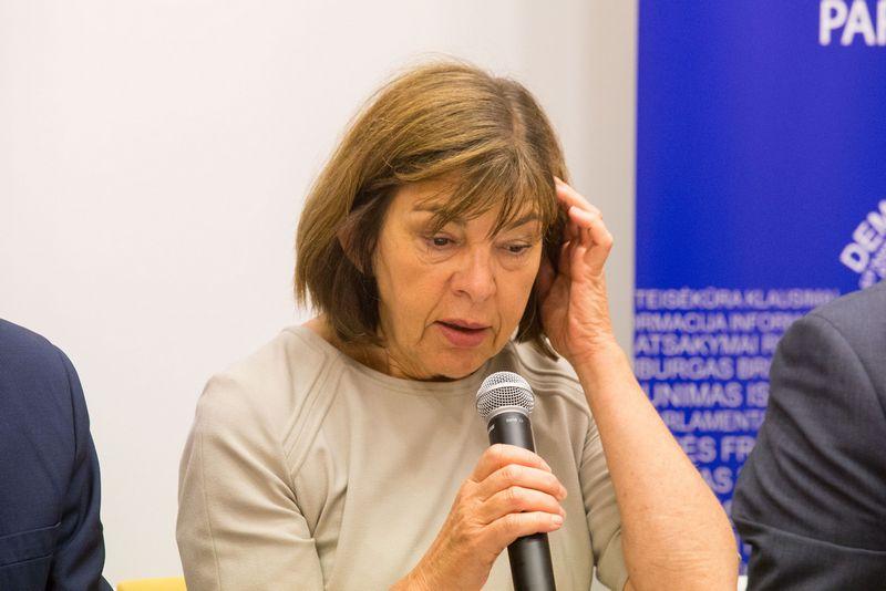 Europos Parlamento pranešėja IAE uždarymo finansavimo klausimu Rebecca Harms. Juditos Grigelytės (VŽ) nuotr.