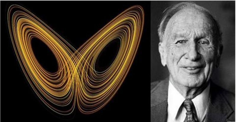 "Matematikas, metereologas Edwardas Lorenzas (1917– 2008 m.). ""wikipedia.org"" nuotr."