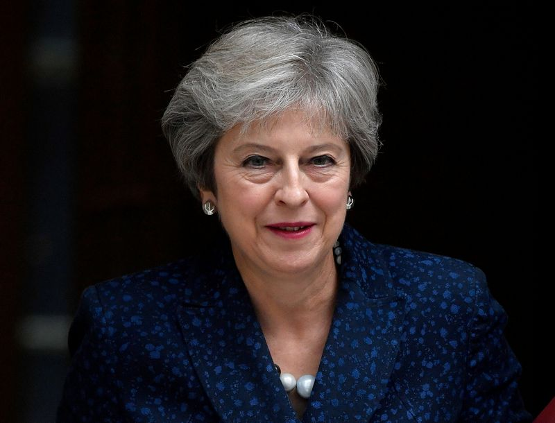 "JK premjerė Theresa May. Toby Melville (""Reuters"" / ""Scanpix"" )nuotr."