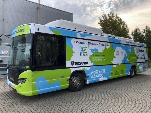 """""""Scania"""" vandenilio technologijas išbando Lietuvoje"""