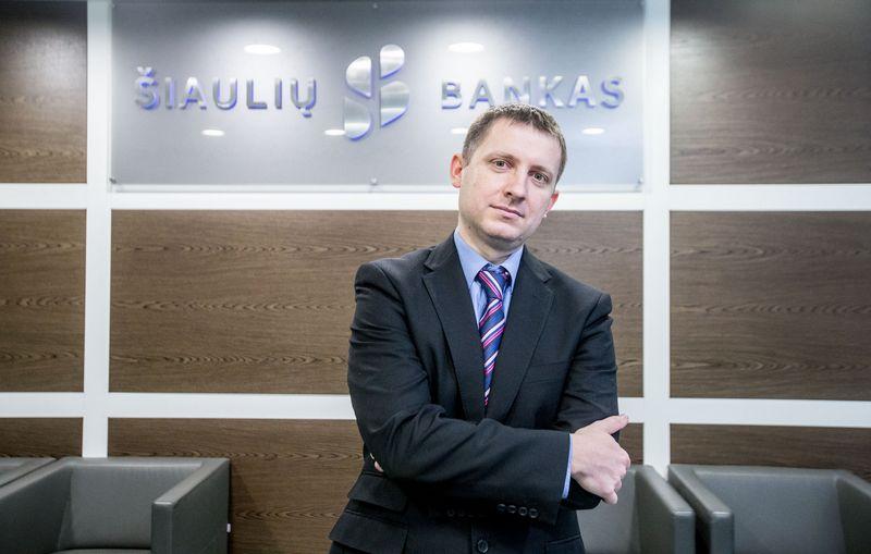 Domas Klimavičius, Šiaulių banko finansų makleris. Juditos Grigelytės (VŽ) nuotr.