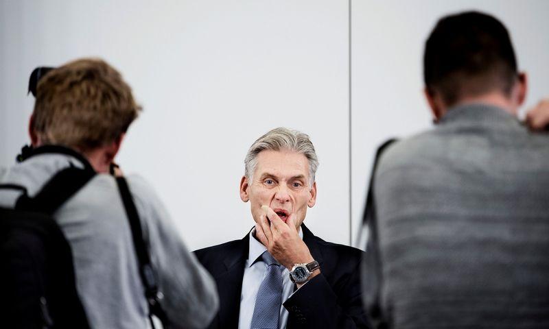 """Iš pareigų besitraukiančiam """"Danske Bank"""" vadovui Thomui Borgenui trečiadienis turėjo būti viena nemaloniausių per karjerą banke dienų. """"Reuters"""" / """"Scanpix"""" nuotr."""