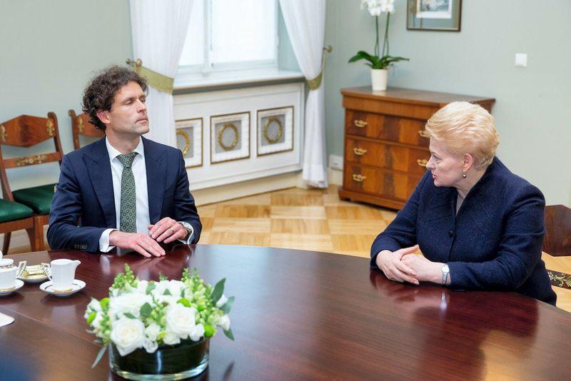 Šarūnas Keserauskas ir Dalia Grybauskaitė. Žygimanto Gedvilos (15min.lt) nuotr.