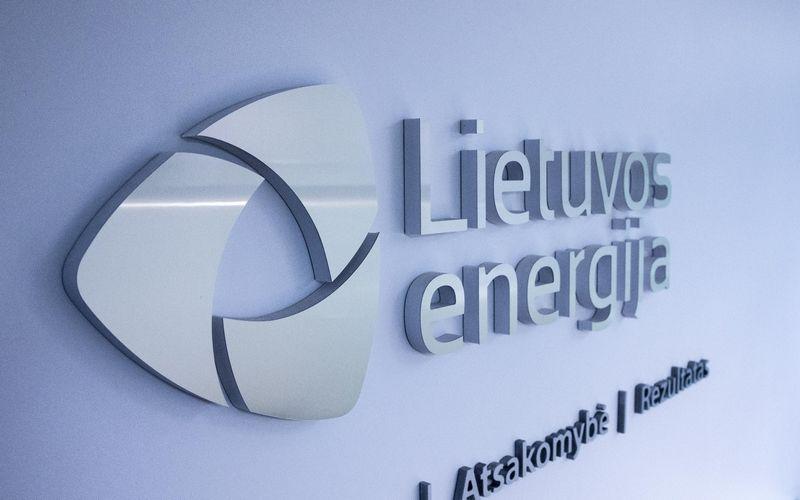 """AB """"Lietuvos energija"""" logotipas. Juditos Grigelytės (VŽ) nuotr."""