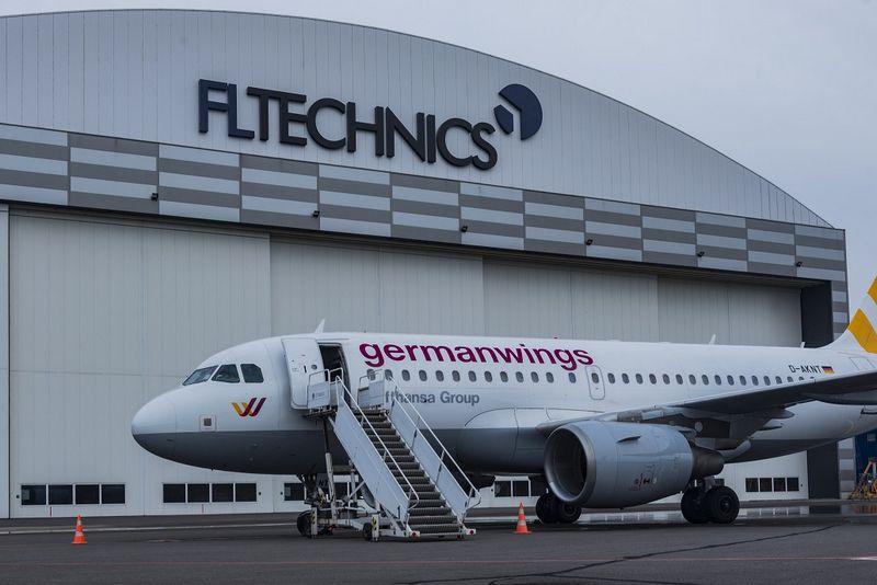 """""""Lufhansa Group"""" priklausantis """"Germanwings"""" lėktuvas Vilniuje. Įmonės nuotr."""