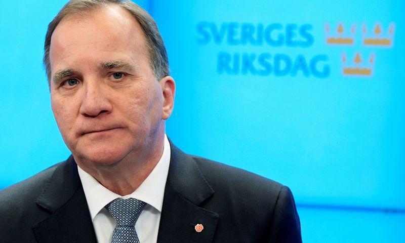 """Švedijos premjeras Stefanas Lofvenas (""""Reuters"""" / """"Scanpix"""") nuotr."""