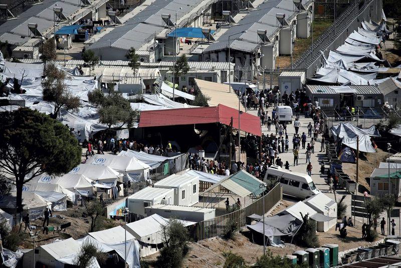Pabėgėlių stovyklas Lesbos saloje. Reuters / Scanpix nuotr.