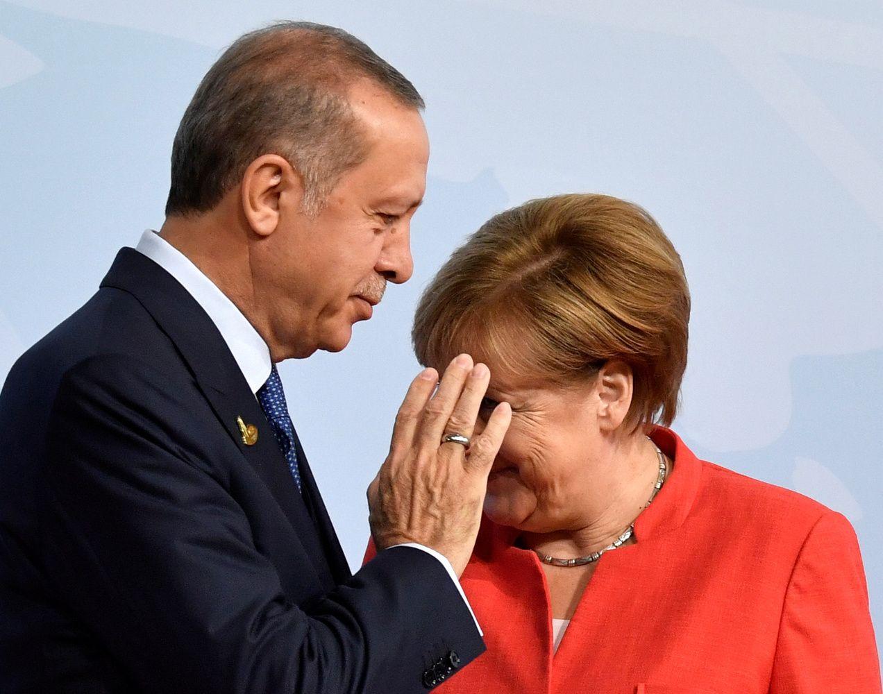 Erdoganas atvyko pas Merkel