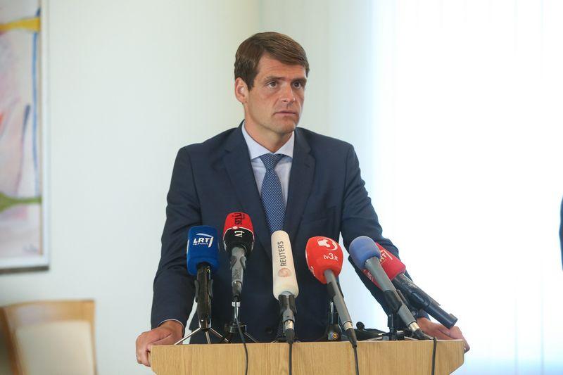 Remigijus Žemaitaitis, Tvarkos ir teisingumo partijos lyderis, yra taikomas į naujuosius Seimo pirmininko pavaduotojus. Vladimiro Ivanovo (VŽ) nuotr.