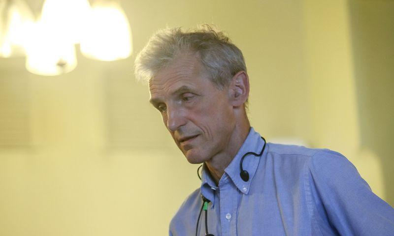 """""""Proveržių ir pažangos dešimtmečiai moksle rodo, kad klausimai niekada nesibaigia"""", – sako fizikas Wolfgangas Ketterle. Vladimiro Ivanovo (VŽ) nuotr."""