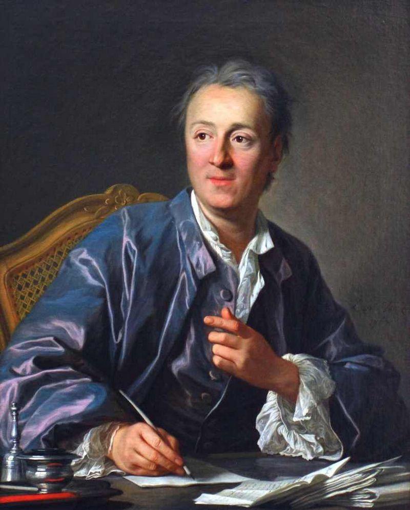 """Denis Diderot teigimu, dvasiniais pratimais emocinių pliūpsnių nesustabdysite. """"Vikipedijos"""" iliustr."""