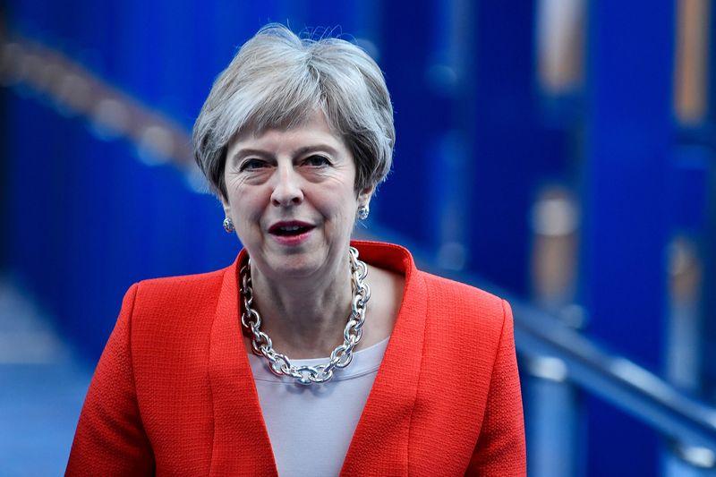 "Jungtinės Karalystės premjerė Theresa May. Toby Melville (""Reuters"" / ""Scanpix"") nuotr."