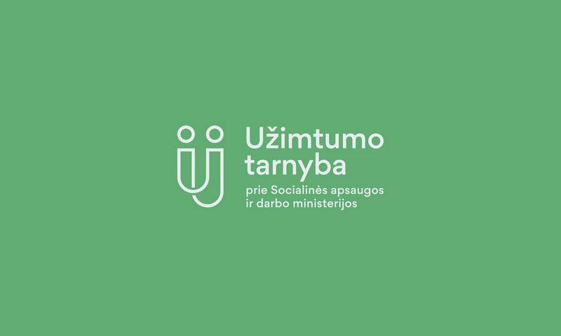 Naujas buvusios Lietuvos darbo biržos pavadinimas ir logotipas.