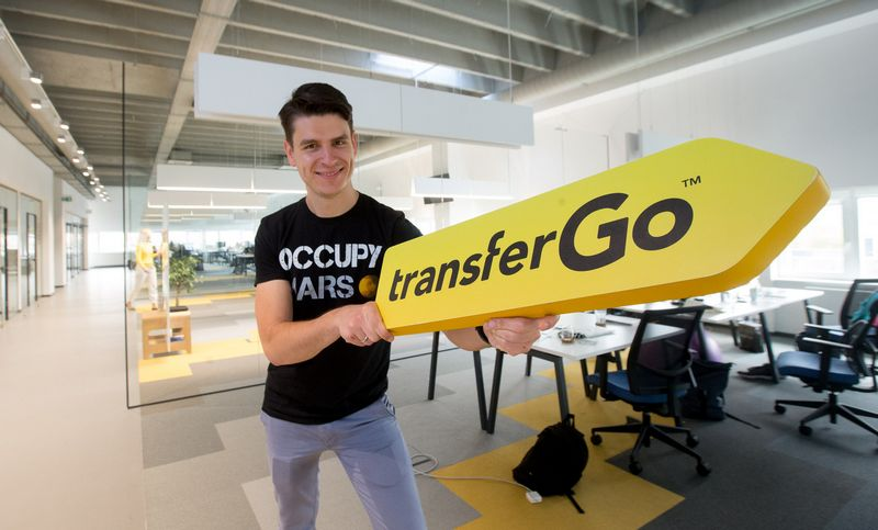 """Daumantas Dvilinskas, piniginių perlaidų startuolio """"TransferGo"""" generalinis direktorius. Juditos Grigelytės (VŽ) nuotr."""