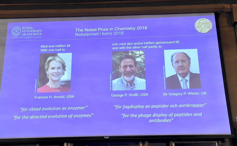 Nobelio chemijos premija – užfermentų evoliuciją