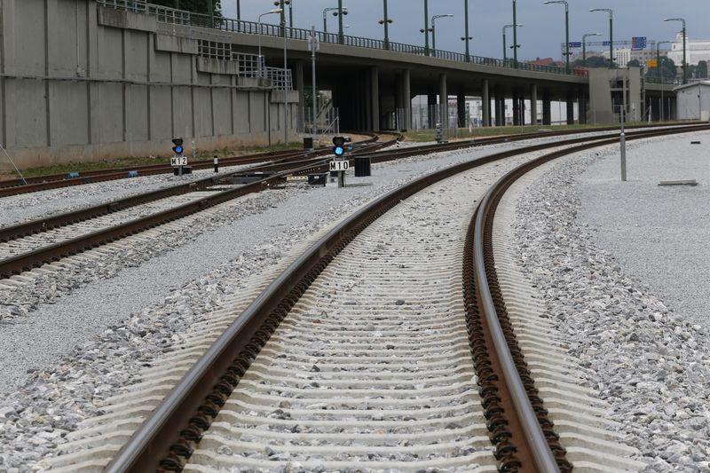 """Europinės vėžės geležinkelio """"Rail Baltica"""" ruožas ties Kaunu. Algimanto Barzdžiaus nuotr."""