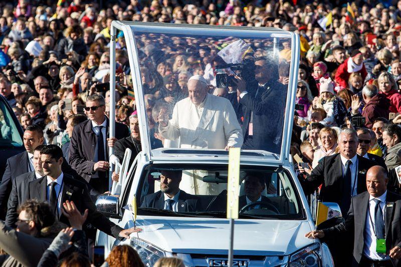 "Popiežiaus Pranciškaus viešnagė Lietuvoje rugsėjo 22 ir 23 d. ""Reuters"" / ""Scanpix"" nuotr."