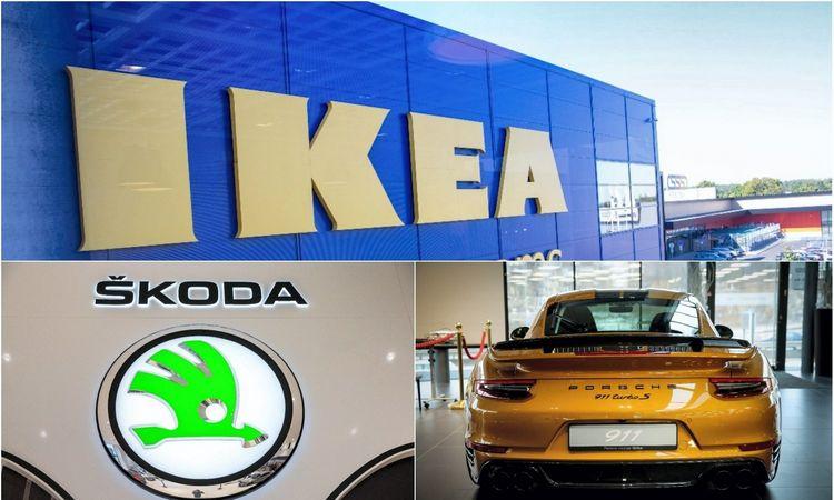 """Mažmeninės prekybos lyderiai: trejetuke – IKEA, """"Škodos"""" ir """"Porsche"""" pardavėjai"""