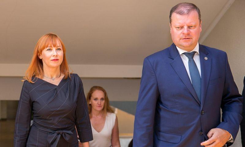Jurgita Petrauskienė ir Saulius Skvernelis. Žygimanto Gedvilos (15min.lt) nuotr.
