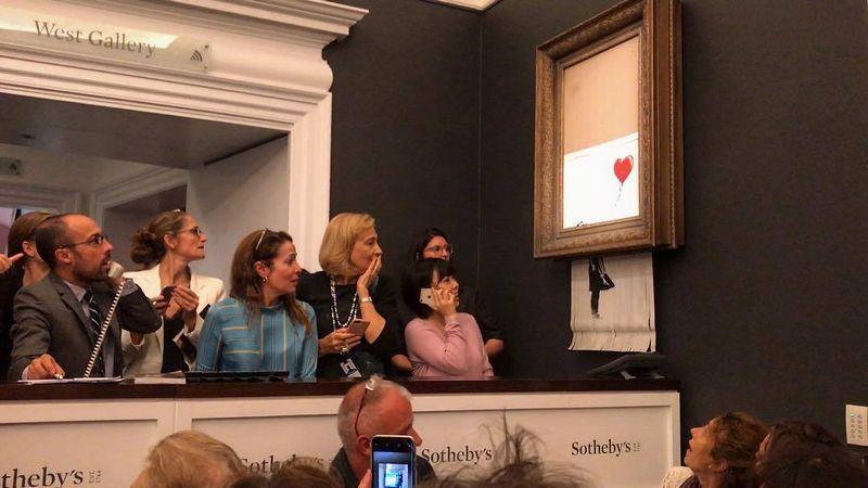 """Nuorauka, kuria Banksy pasidalino """"Instagram""""."""