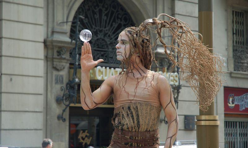 Ispanija, Barselona. Gatvės aktorius. Aušros Barysienės nuotr.