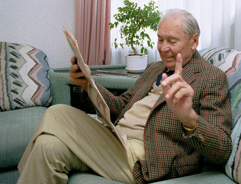 Verslininkas, filantropas, mecenatas Juozas Kazickas, 1998 m. VŽ nuotr.