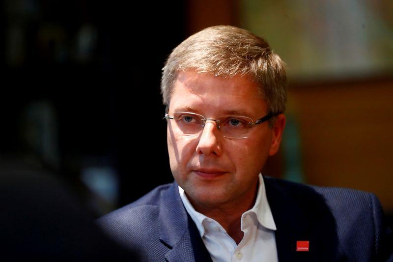 """Nilas Ušakovas, Rygos meras ir Saeimos rinkimus laimėjusios """"Santarvės"""" partijos lyderis. Inčio Kalninio (""""Reuters"""" / """"Scanpix"""") nuotr."""