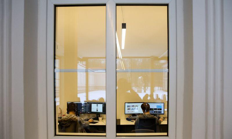 """UAB """"Telesoftas"""" biuras Vilniaus technologijų ir meno centre. Vladimiro Ivanovo (VŽ) nuotr."""