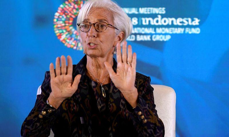 """Tarptautinio valiutos fondo vadovė Christine Lagarde. (""""Reuters"""" / """"Scanpix"""") nuotr."""