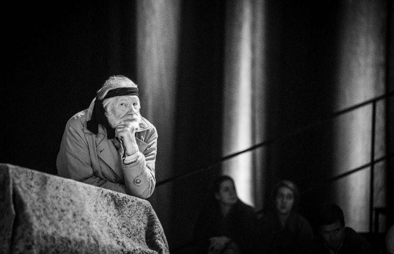 """Juozas Budraitis spektklayje """"Visuomenės priešas"""", Nacionalinis dramos teatras. Dmitrijaus Matvejevo nuotr."""