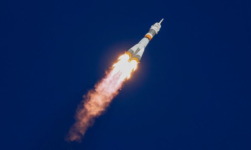 """""""Soyuz MS-10"""" į Tarptautinę  kosminę stotį turėjo nugabenti du astronautus. Shamilo Zhumatovo (""""Reuters"""" / """"Scanpix"""") nuotr."""