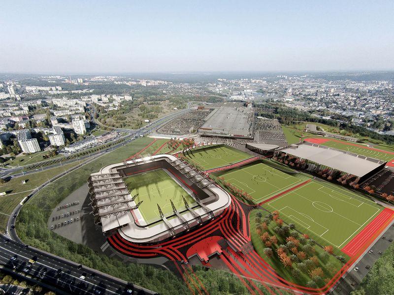 """""""Axis Industries"""" nacionalinio stadiono komplekso projektas."""